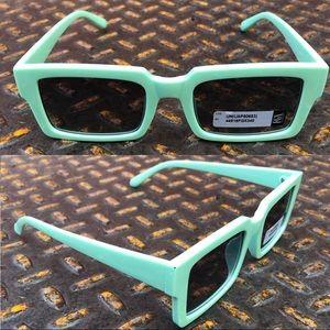 Other - 2/$18Light Blue Retro Rectangle Sunglasses
